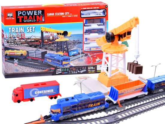 Queue Train with cargo station RC0437