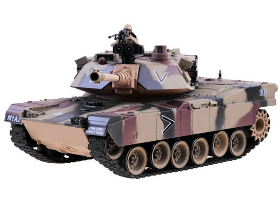 REALISTIC TANK US M1A2 SHOOT + remote RC0252MO