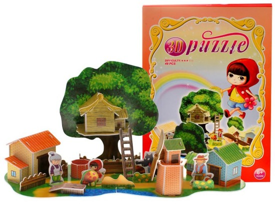 RED RIDING HOOD 3D Puzzle ZA0343