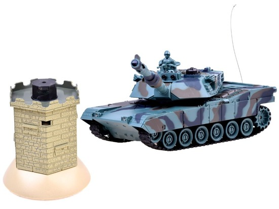 Remote controlled tank + battle bunker RC0424