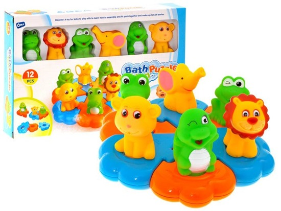 Rubber Critters on floating puzzle FOR 1211