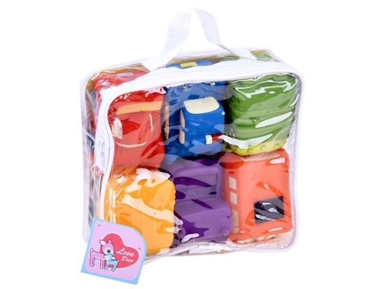 Rubber toy bath toys 6 pieces ZA2845