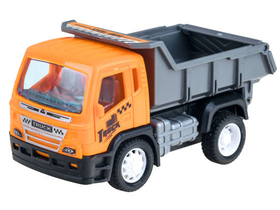 Set of autecked construction cars tipper crane ZA2103