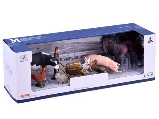 Set painted Farmer Farm Animals ZA2994