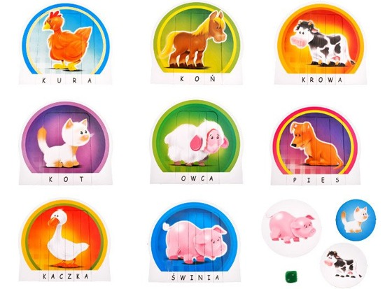 Small animals puzzle game Preschooler GR0201