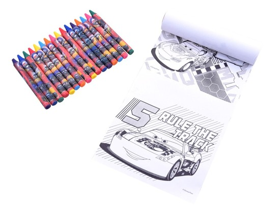 Soft Backpack Cars Zigzag crayons coloring book ZA3037