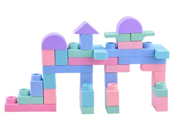 Soft rubber blocks for baby 40 pieces ZA2558
