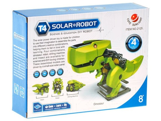 Solar 4in1 Educational toy dinosaur ZA1082