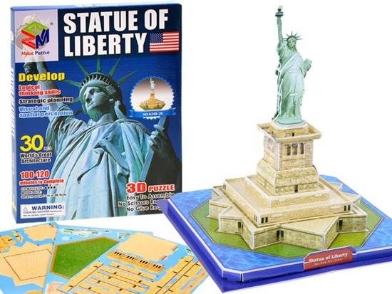 Spatial 3D Puzzle Statue of Liberty USA FOR 1579