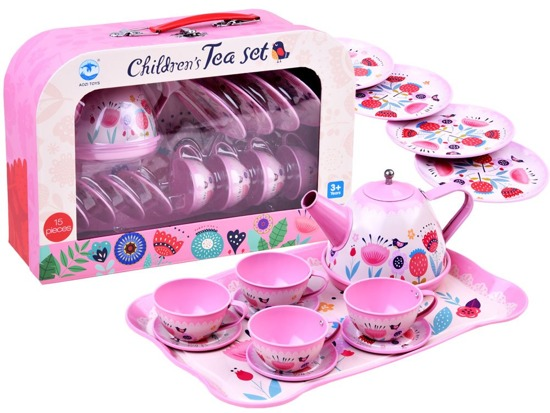 Tea set trunk Tray Cups ZA2847