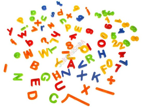 The letters digits magnetic alphabet 80szt.TA0055