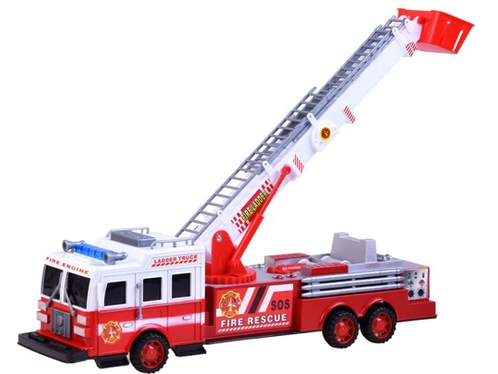 Toy Car FIRE SAFETY pull-out ladder sound ZA 2396