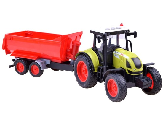 Toy Tractor and trailer agricultural machinery ZA2436