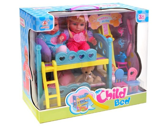Two set of bunk beds + 2 DOLLS and bear ZA1764