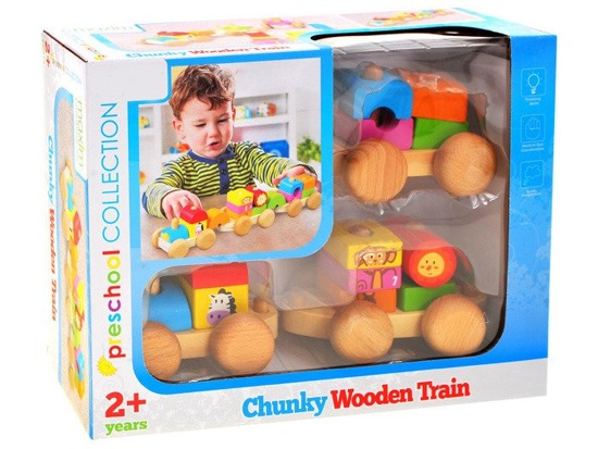 WOODEN BLOCKS railway train ZA1806