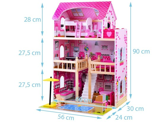 Wooden dollhouse LED grill ZA0945 pool