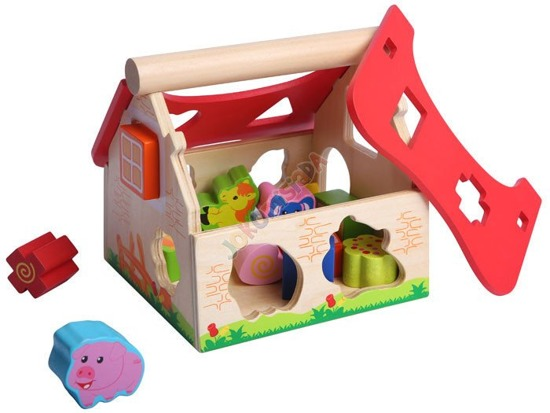 Wooden house + pet SORTER ZA0943