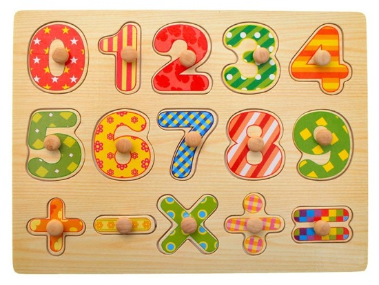 Wooden puzzles DIGIT science counting ZA1703