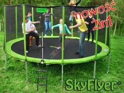 TRAMPOLINA SKYFLYER RING 2in1 487CM 16FT + Gratisy