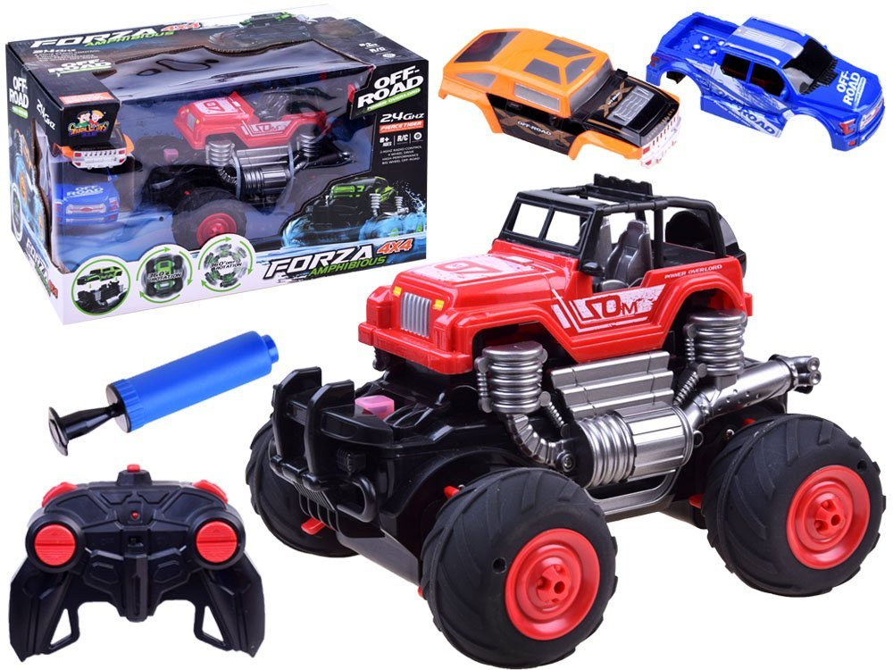 Auto terenowe OFF ROAD 4x4 Amfibia 2,4GHZ RC0454