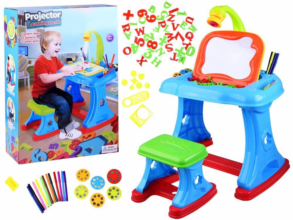 Biurko Projektor Stolik Zestaw Edukacyjny Ta0074 Zabawki Dla