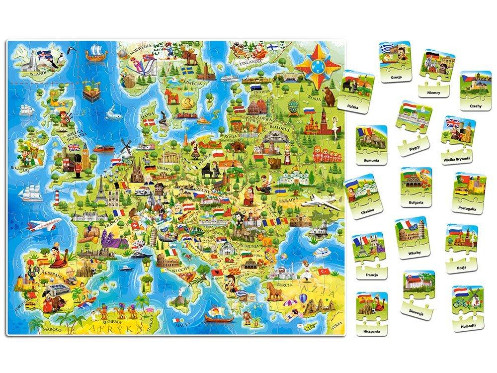 Castorland Puzzle Mapa Europy 180 Ele Quiz Ca0036 Sklep Jokomisiada