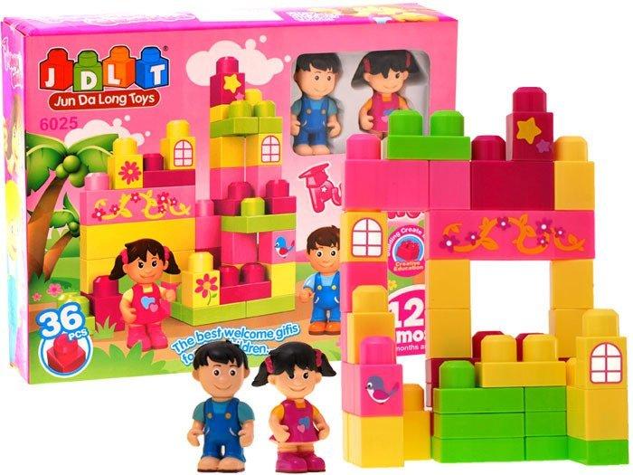 Duże Bajecznie Kolorowe Klocki 36 Elem Za0524 Zabawki Dla Dzieci