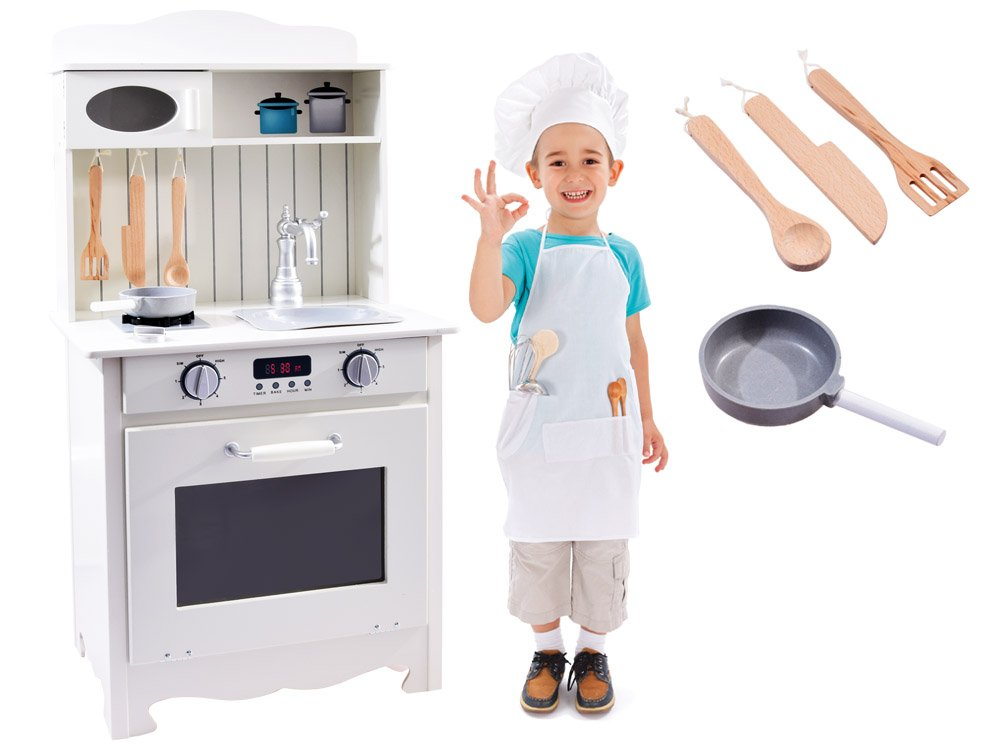 Drewniana Kuchnia Dla Dzieci Z Wyposażeniem Za2682