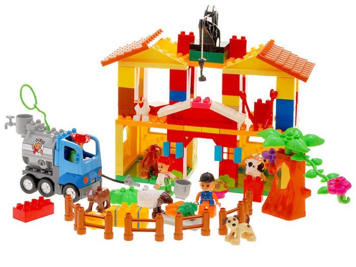 Duza Kolorowa Farma Klocki 126elem Za0173 Zabawki Dla Dzieci