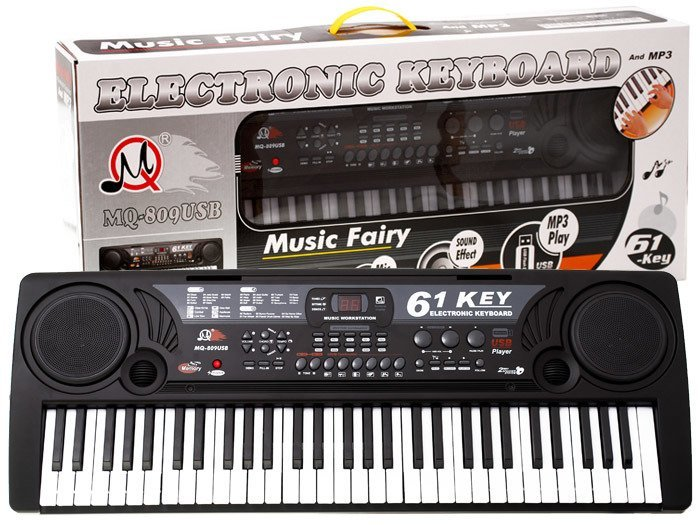 Duże Organy Keyboard MQ-809 USB MIKROFON IN0029