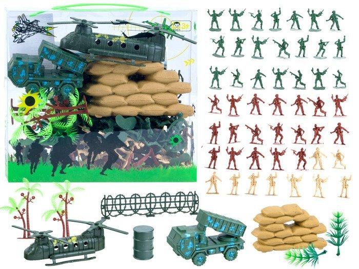Figurki żołnierzyki Z Akcesoriami Wojsko Za2120 Zabawki Dla Dzieci