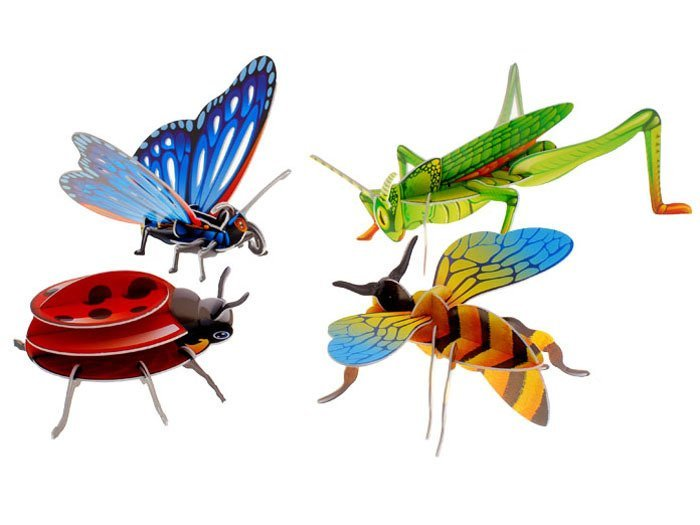 Puzzle 3 D Robaki Biedronka Pszczoła Motyl Za0229 Zabawki Dla