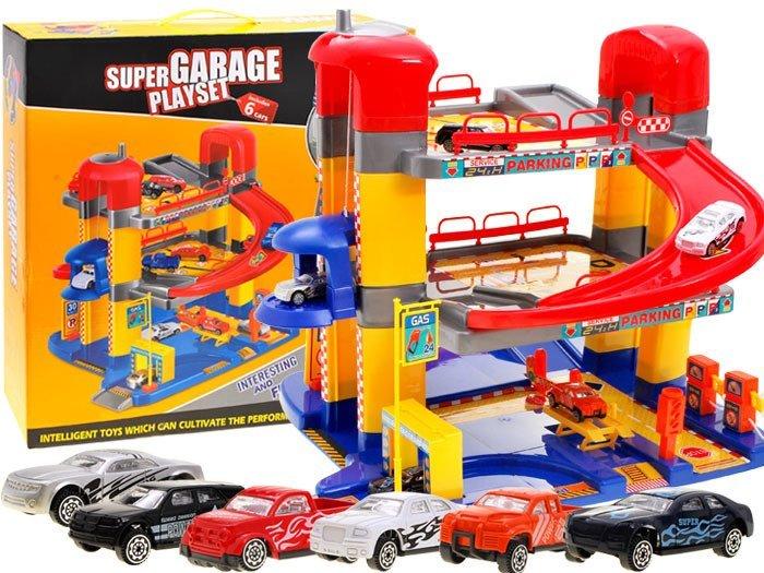 Super Piętrowy Garaż Parking Mechanik Auta Za1858 Zabawki Dla